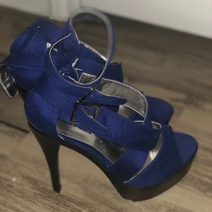 Shoes - Blue Platform Heels